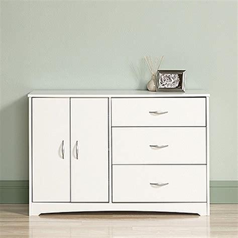 sauder beginnings 3 drawer soft white dresser 416350 the