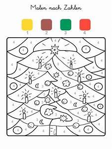 Kinder Bilder Malen : kostenlose malvorlage malen nach zahlen weihnachtsbaum ausmalen zum ausmalen ~ Markanthonyermac.com Haus und Dekorationen