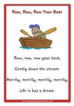 Boat Song Funny by 8 Best Images Of Row Row Row Your Boat Nursery Rhyme