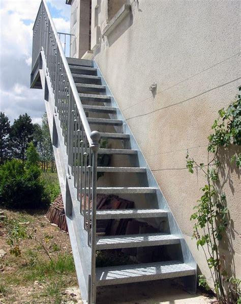 photo dt57 esca droit 174 avec palier d arriv 233 e escalier droit d ext 233 rieur en acier galvanis 233 au