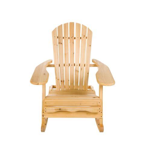 Trueshopping Bowland Adirondack Wooden Rocking Chair For