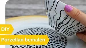 Porzellan Bemalen Anleitung : porzellan bemalen einfache diy anleitung f r teller geschirr roombeez powered by otto ~ Markanthonyermac.com Haus und Dekorationen