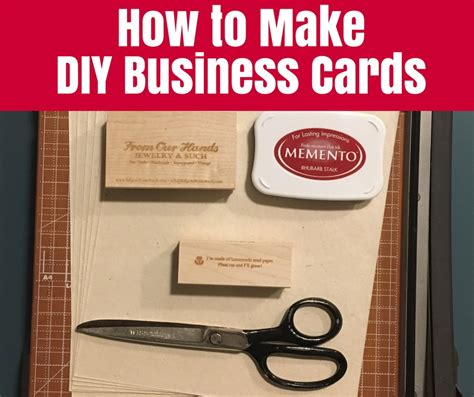 How To Make Diy Business Cards • The Crafty Mummy
