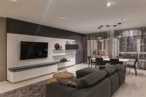 Wohnzimmer Gestalten Grau : wohnung einrichten in grau modernes apartment als inspiration ~ Markanthonyermac.com Haus und Dekorationen