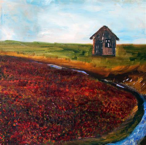 Cape Cod Cranberry Bog Painting By Michael Helfen