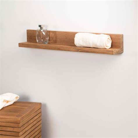 tablette 233 tag 232 re 233 lia salle de bain en teck massif 70cm