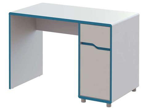 bureau moby coloris blanc et bleu vente de bureau conforama