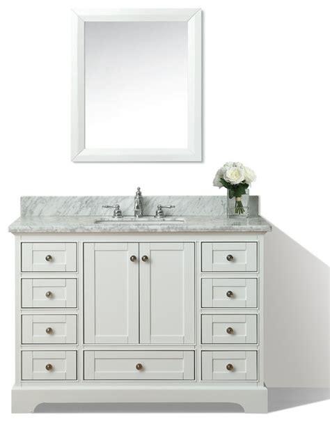 48 quot bath vanity set white houzz exclusive