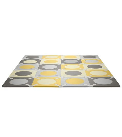 skip hop playspot interlocking foam tiles in gold grey