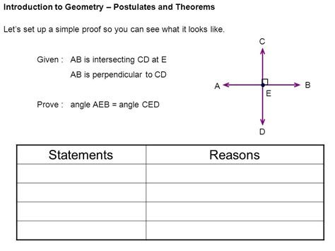 Introduction To Geometry  Postulates And Theorems  Ppt Video Online Download