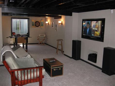 Attractive Basement Remodeling Ideas On A Budget With Living Room For Sale Modern Couches Small Tables Bar Cabinet With Grey Sofa Interior Paint Ideas Photo Curtains