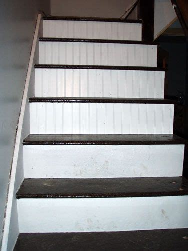 Beadboard Stair Risers Looks Like Our Next Weekend