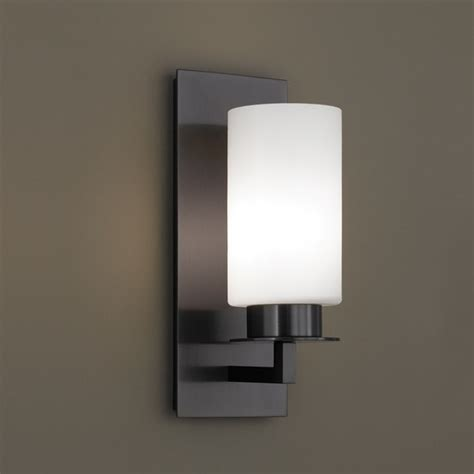 norwell lighting jade sconce with matte opal glass 9670