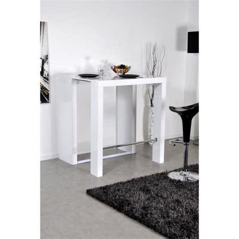 bar console table haute extensible 2 rallonges venise laqu 233 blanc achat vente table salle a