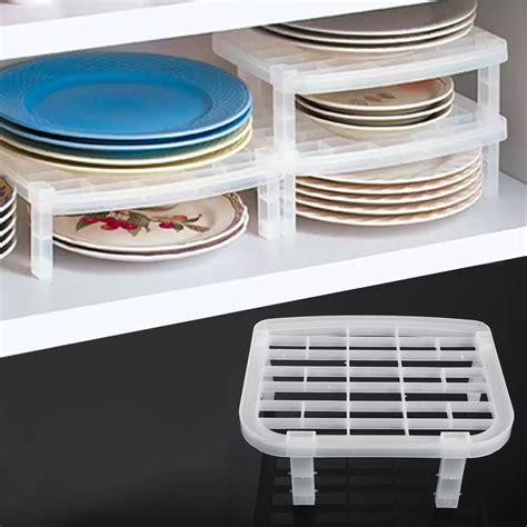 Plastic Dish Plate Drying Rack Organizer Holder Foldable