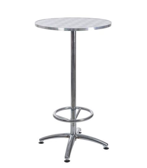 table haute de bar ronde en m 233 tal avec repose pieds damier noir et blanc wadiga