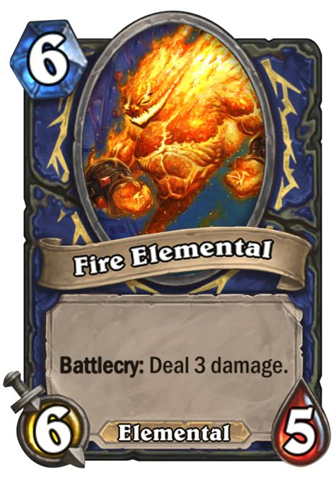 elemental hearthstone card