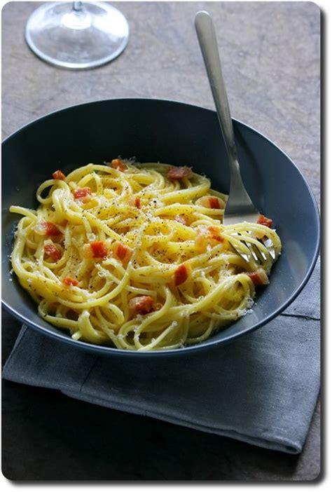 les 25 meilleures id 233 es concernant recette carbonara italienne sur p 226 te carbonara