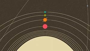 Simple Minimalism Planets Solar System Illustration