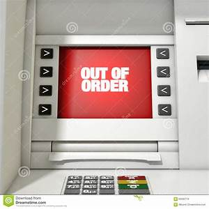ATM Screen Out Of Order Stock Illustration - Image: 60292719
