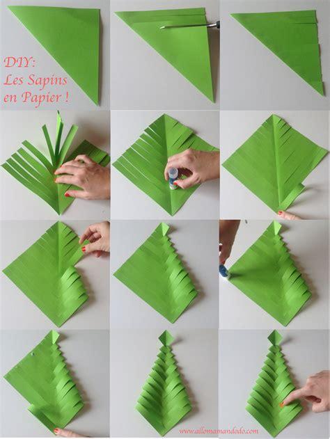 fabrique des sapins en papier diy facile et rapide allo maman dodo