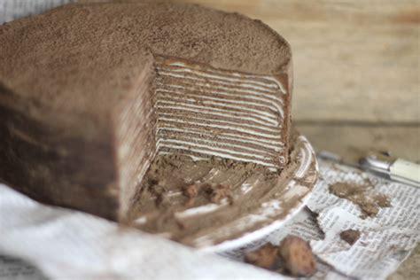 chocolate crepe cake chocolate amaretto cr 234 pe cake sprinkle bakes