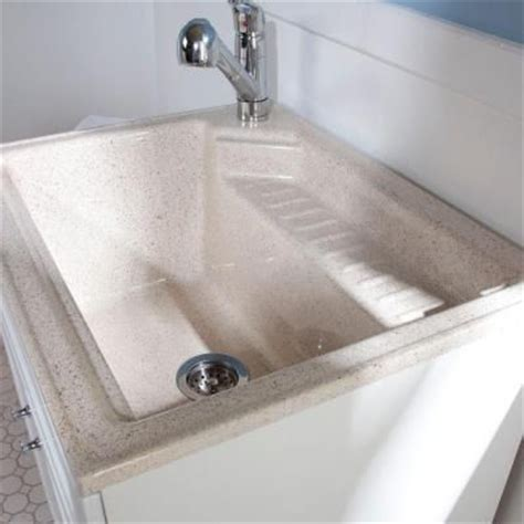 glacier bay all in one 27 in colorpoint premium laundry sink and cabinet bcp2732com wh at the