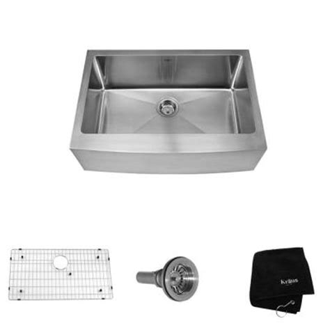 Home Depot Kraus Farmhouse Sink by Kraus Farmhouse Apron Front Stainless Steel 30 In 0