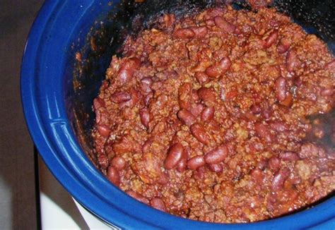 crock pot chili con carne with beans recipe food