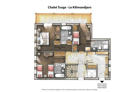 interior architecture exciting floor plan of luxurious chalet tsuga le