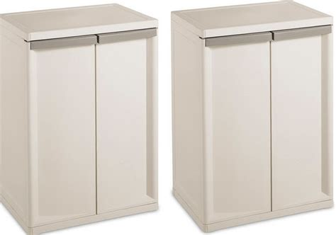 sterilite 4 shelf utility storage cabinet putty 2 pack imanisr