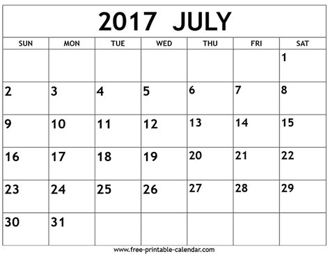 calendar template for june july august 2017 july 2017 calendar printable template pdf holidays