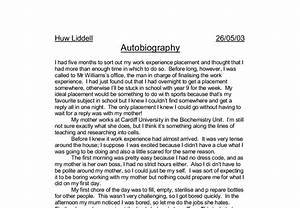 admission autobiographical essay high school writing