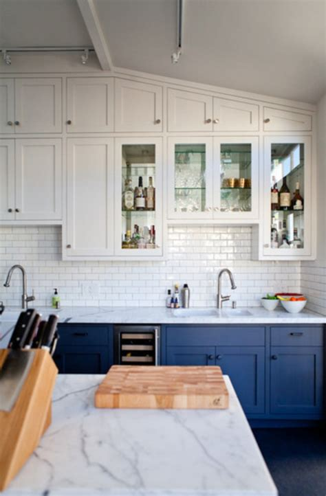 go halfsies in your kitchen with bi colored cabinets