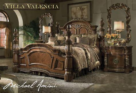 Michael Amini Bedroom Set by Quot Michael Amini Quot Classic Chestnut Bedroom Set Villa