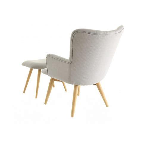 fauteuil scandinave en tissu avec repose pieds stockholm trendy homes