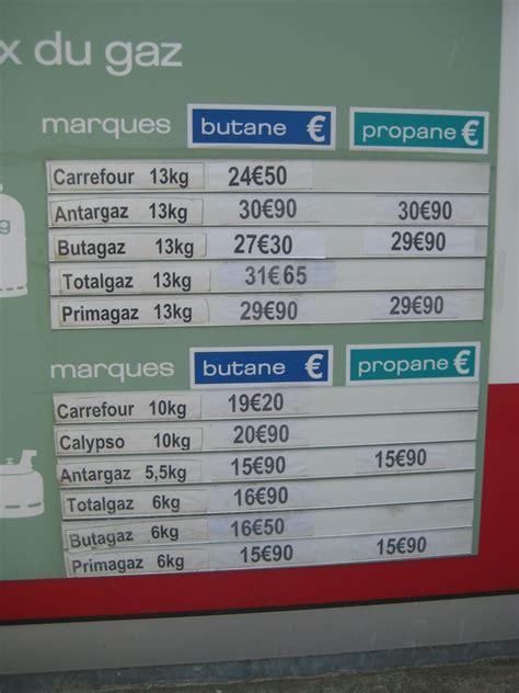 prix dune bouteille de gaz u