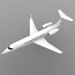 3D model Embraer Legacy Executive Aircraft VR / AR / low ...