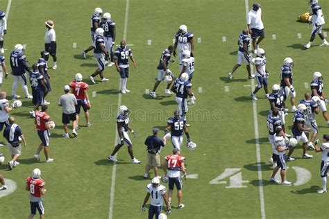 San Diego Chargers Practice Editorial Stock Photo