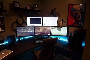 Gaming Zimmer Deko : cool computer setups and gaming setups ~ Markanthonyermac.com Haus und Dekorationen