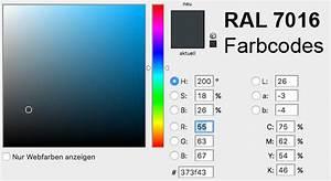 Ral Ncs Tabelle : ral 7016 farbe als ncs alternative und rgb cmyk code ~ Markanthonyermac.com Haus und Dekorationen