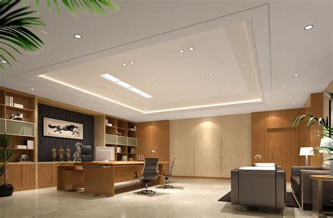 modern style ceo office interior design with sofa