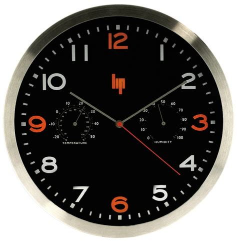 horloge murale station meteo lip design r 233 veil et topkoo