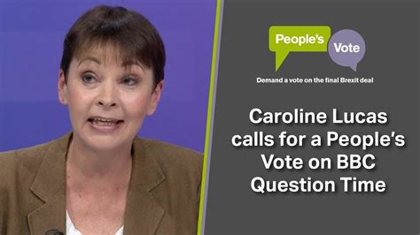 Caroline Lucas Calls For A People's Vote On Bbc Question Time Infographic With Animations App Offline Appsumo Show Ww2 Pinterest 2017 Tv Poster Presentation Meaning Assignment Pdf