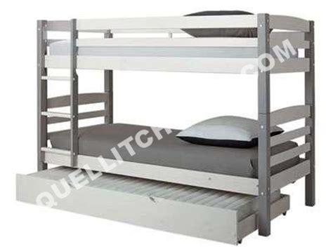 conforama lits superpos 233 s 90 x 200 cm harry 5 coloris bla gris lit enfant moins