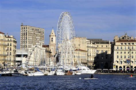 grande roue de marseille vieux port de marseille provence