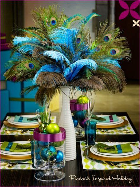 Peacock Feather Theme Wedding