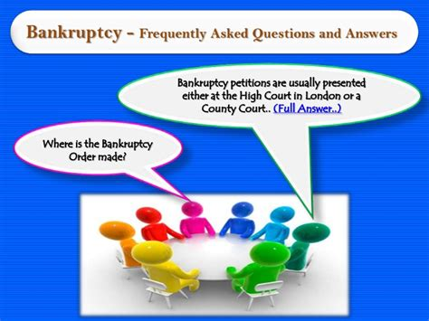 Bankruptcy  Frequently Asked Questions And Answers