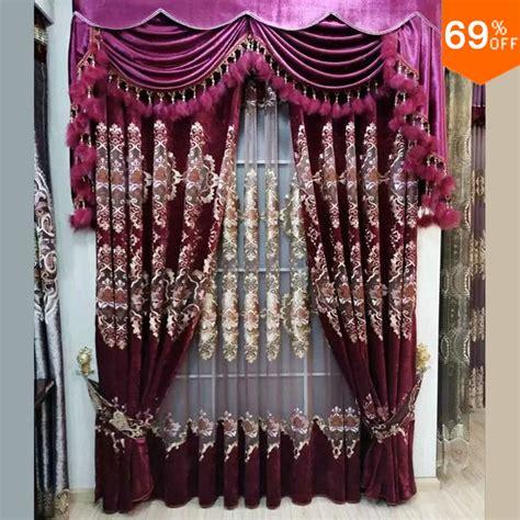 2016 new purple rideau de luxe salon chambres broderie salle d eau rideaux