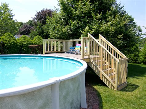 above ground pool with deck landscaping gardening ideas
